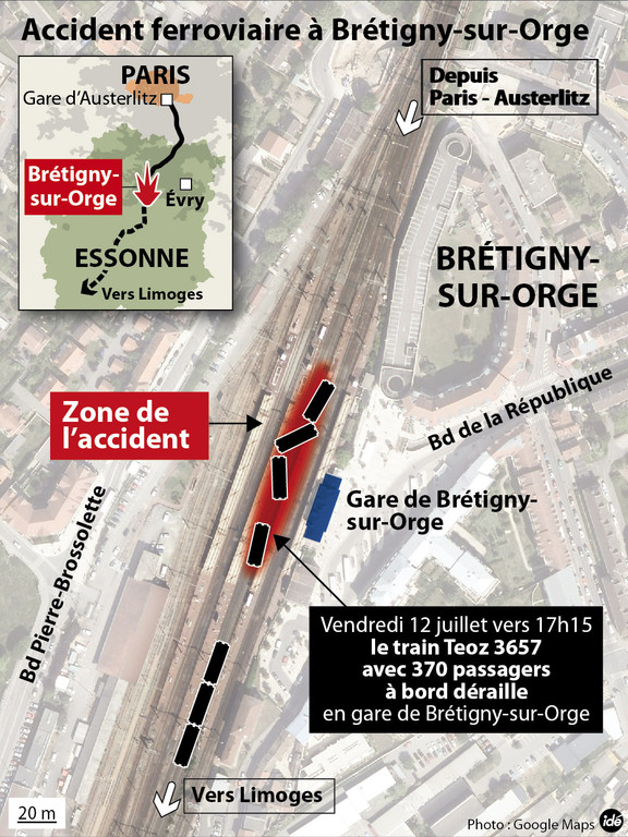Accident de train mortel à Brétigny-sur-Orge.