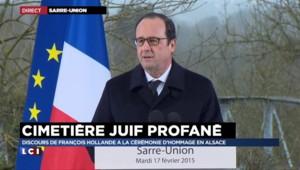"""Hollande : """"Derrière cet acte, il y a l'expression des mots qui ronge la République"""""""