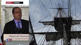 Inauguration de l'Hermione : et une petite blague pour Hollande !