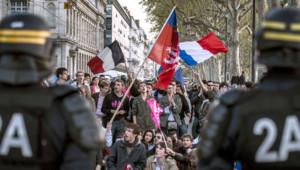 Manif pour tous, Lyon. 23 avil 2013.