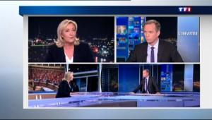"""Marine Le Pen au 20H de TF1 : """"Bruxelles a réclamé à corps et à cris le vote de la loi Macron"""""""