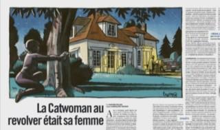 Surnommée Catwoman, gantée et cagoulée dans une combinaison en latex, elle a tenté de tuer son mari