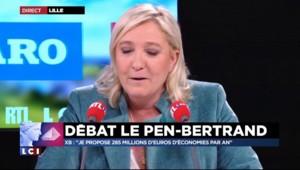 """Marine Le Pen à Bertrand : """"Vous touchez dix balles à chaque fois que vous dites extrême-droite ?"""""""