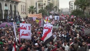 Egypte : manifestation contre l'armée au Caire, 18/11/11