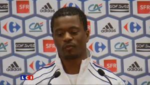 Patrice Evra, défenseur équipe de france de Footballer énervé par une question sur Laurent Blanc