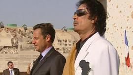 TF1 / LIC Nicolas Sarkozy et Mouammar Kadhafi à Tripoli, le 25 juillet 2007