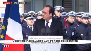 """Hollande : """"Un projet de loi a été préparé"""" pour répondre au défi du terrorisme"""