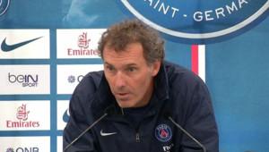 Laurent Blanc à l'issue de son premier entraînement public avec le PSG à Clairefontaine, le 3 juillet 2013.