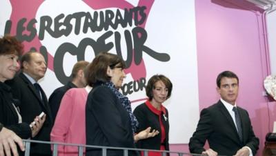 Manuel Valls, Marisol Touraine et Anne Hidalgo le lundi 24 novembre 2014.