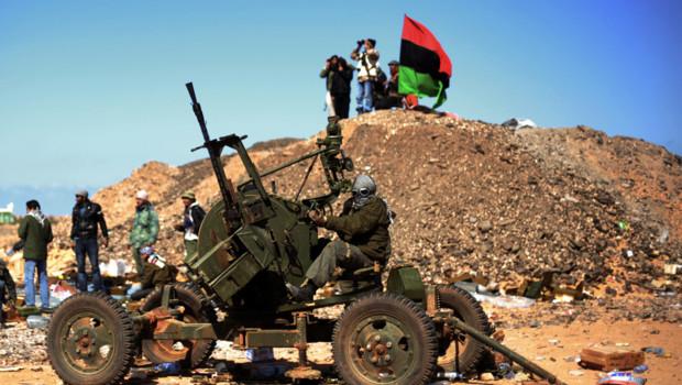 Rebelles libyens à Ras Lanouf, 7 mars 2011