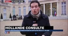 """Consultations de François Hollande : """"Un moyen de préparer la conférence de presse"""""""