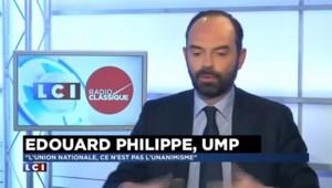 """Edouard Philippe : """"Pour le législateur, le plus simple est de dire qu'il faut un Patriot Act"""""""
