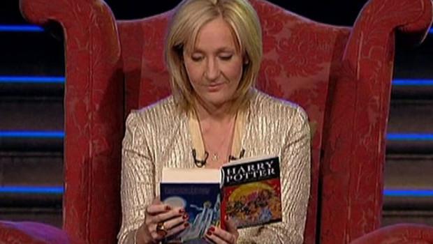 J.K. Rowling lors de la sortie du 7e tome de Harry Potter