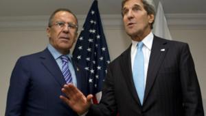 John Kerry et Sergueï Lavrov, le 1er juillet 2013