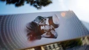 L'affiche du 66e Festival de Cannes sur la Palais des festivals