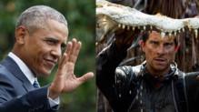 Montage de Barack Obama et Bear Grylls