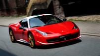 Ferrari 458 Italia, édition unique en hommage au pilote autrichien triple champion du monde de F1 Niki Lauda, dévoilée en 2013 et ici en vente d'occasion