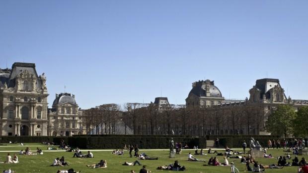De plus en plus de rats se promènent entre les Parisiens et les touristes dans le parc du Carrousel du Louvre.