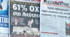 """Le 20 heures du 6 juillet 2015 : La Grèce dit """"non"""" à l'austérité, mais pas à l'Europe - 99"""