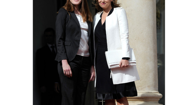 Carla Bruni Sarkozy et Valérie Trierweiler 15 mai