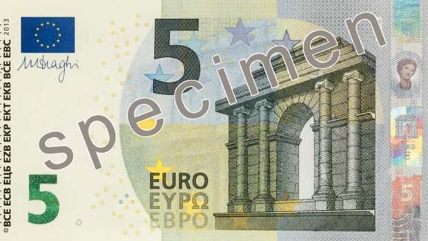 Le nouveau billet de 5 euros mis en circulation à partir du 2 mai 2013