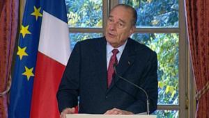 TF1/LCI : Jacques Chirac lors de la signature du traité Iter, lançant le projet de réacteur nucléaire expérimental