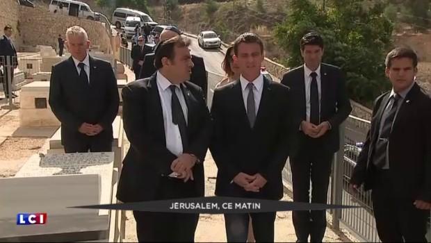 Valls à Jérusalem : recueillement sur les tombes des victimes juives des attentats