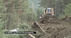 Crash dans les Alpes : chemin