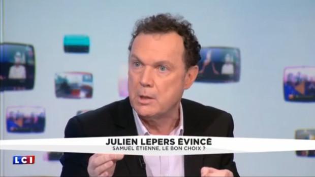 Julien Lepers, invité de la Médiasphère sur LCI.