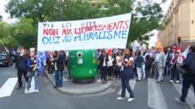 lci manifestation CSA salariés contre fermeture LCI