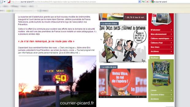 Le Courrier Picard 17/04/2012