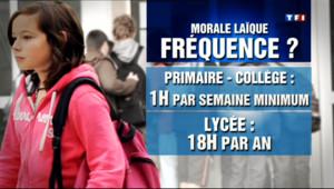 Le 20 heures du 22 avril 2013 : Peillon instaure une heure de morale la�e au primaire et au coll� - 665.077