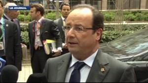 François Hollande au Sommet européen le 27 juin 2013