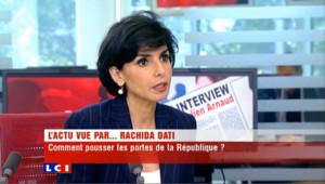 """Le gouvernement s'est """"déconnecté"""" des banlieues selon Rachida Dati."""