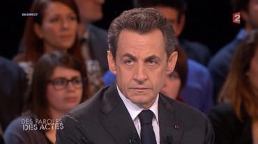 Revoir Nicolas Sarkozy dans Des paroles et des actes