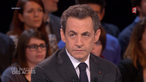 Nicolas Sarkozy dans Des paroles et des actes mardi 6 février 2012 sur France 2.
