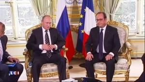 Syrie : Merkel et Hollande somment Poutine de frapper uniquement Daech