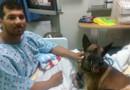 Andrew Brown et son chien Rocky hospitalisés à Washington.