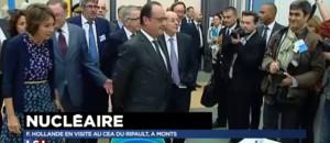 François Hollande en visite au CEA d'Indre-et-Loire