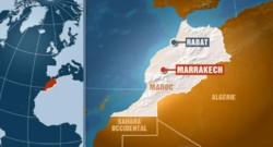 marrakech carte maroc rabat