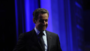 Nicolas Sarkozy au soir du premier tour, le 22 avril 2012 à Paris.