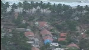 Vue aérienne des dégâts du tsunami en 2004