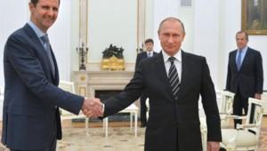 Bachar al-Assad Vladimir Poutine