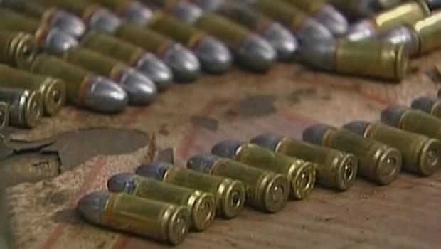 balles de 9 mm.