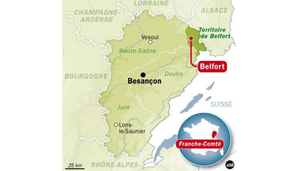 Carte de Belfort.