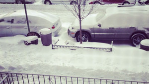La tempête de neige à New York le 4/01/2014