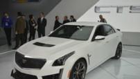 Cadillac CTS-V, version sportive à moteur V8 640 ch exposée au Salon de Detroit en janvier 2015