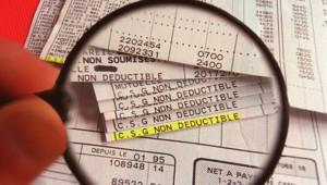 La ligne CSG sur la feuille de paye.