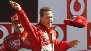 Michael Schumacher (Ferrari) lors de sa victoire au GP d'Italie 2003