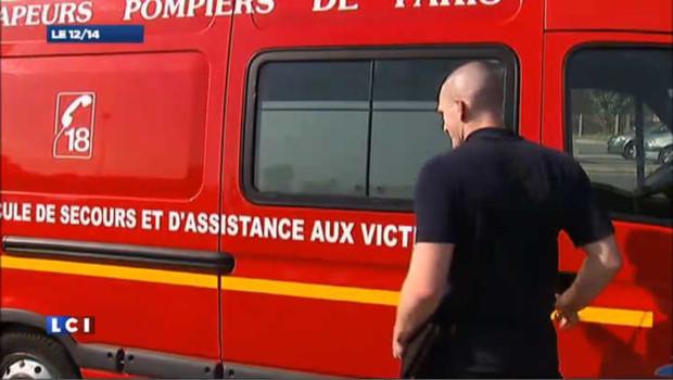 Camion d'intervention de premiers secours des pompiers